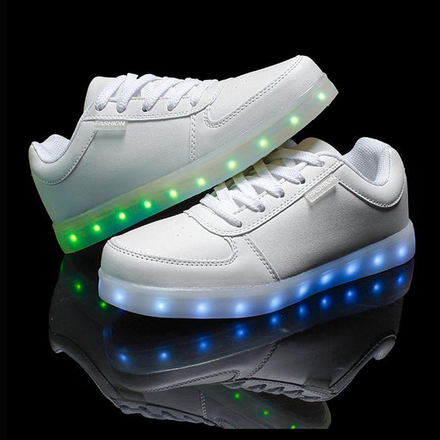 LED Glow Fashion Low Tops With 8 LED Color Options Included!  USB Rechargeable! - TrendSettingFashions