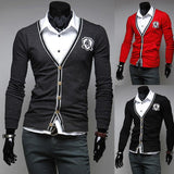 Men's Patch Cardigan - TrendSettingFashions