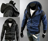 Men's Fleece Zip with High Collar Zip - TrendSettingFashions   - 2