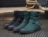 Men's Buckle Fashion Boots - TrendSettingFashions