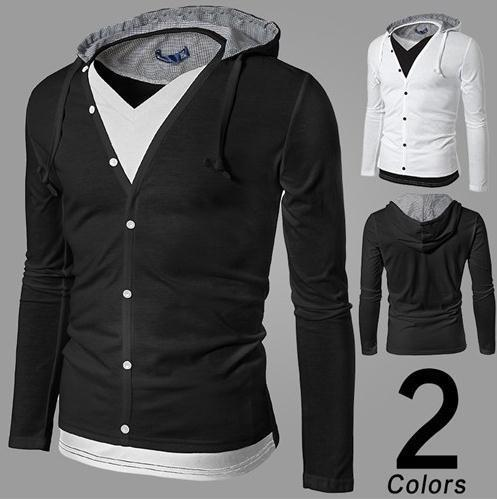 Men's Full Button Hoodie - TrendSettingFashions   - 4