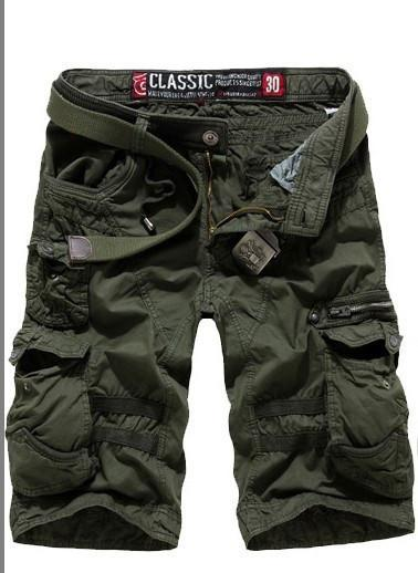 Men's Cargo Shorts with Side Zippers - TrendSettingFashions   - 4