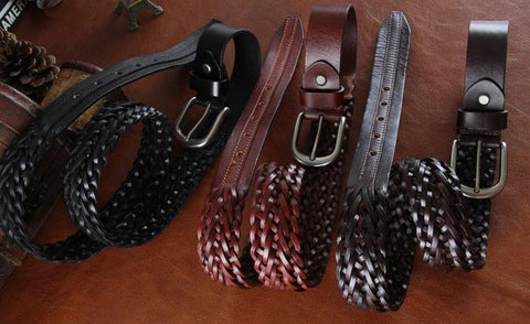 Genuine Leather Belt Classic Pattern 2