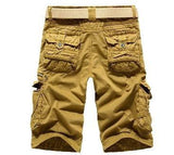 Men's Cargo Shorts with Side Zippers - TrendSettingFashions