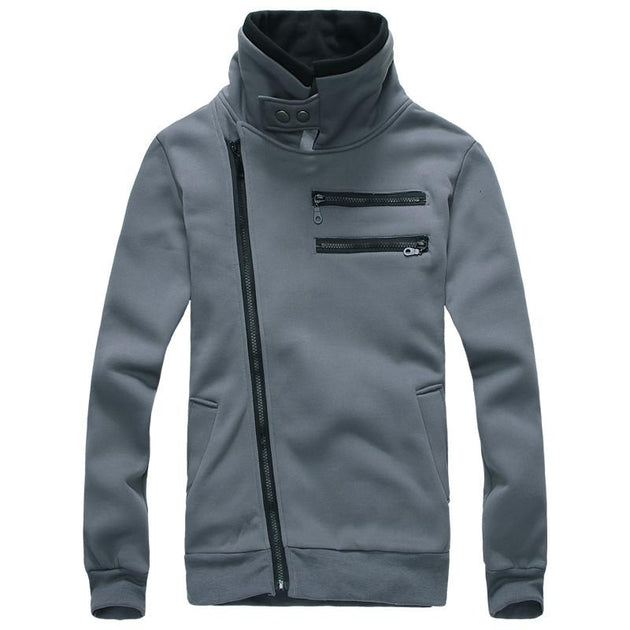 Men's Right Hand Zip with High Collar - TrendSettingFashions   - 1