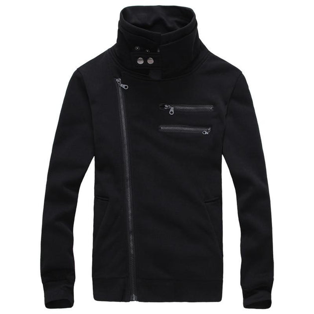 Men's Right Hand Zip with High Collar - TrendSettingFashions   - 2