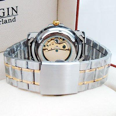 Men's Dressy Silver/Gold Trim Watch - TrendSettingFashions   - 2