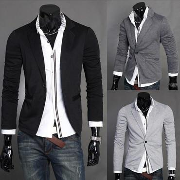 Men's One Button Dress Jacket - TrendSettingFashions