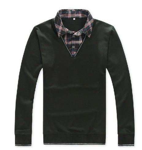 Men's Sweater With Turn Down Collar - TrendSettingFashions