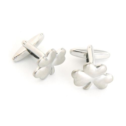 Dashing Cuff Links with Personalized Case -3 Leaf Clover - TrendSettingFashions