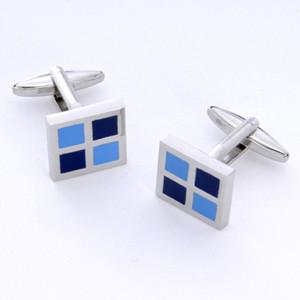 Dashing Cuff Links with Personalized Case - Blue Square - TrendSettingFashions