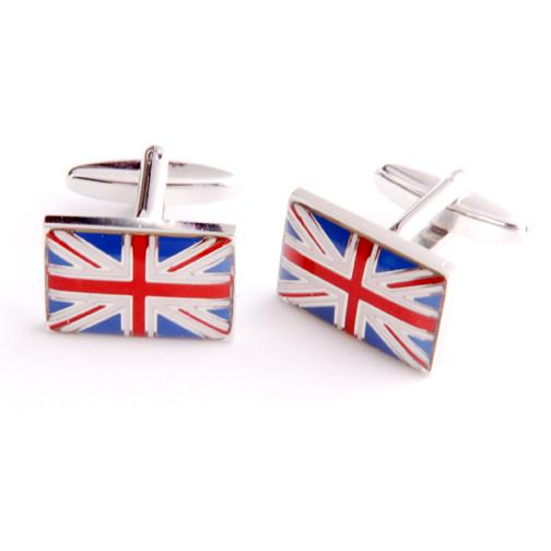 Dashing Cuff Links with Personalized Case - British Flag - TrendSettingFashions