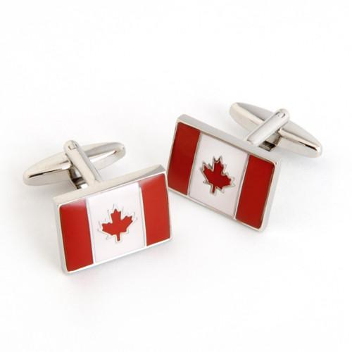 Dashing Cuff Links with Personalized Case - Canada Flag - TrendSettingFashions