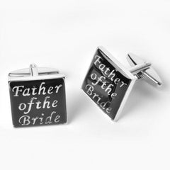Dashing Cuff Links with Personalized Case - Father of the Bride - TrendSettingFashions