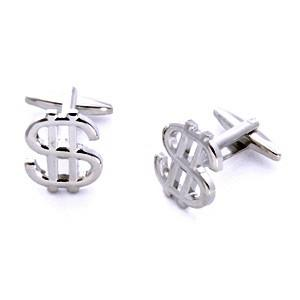 Dashing Cuff Links with Personalized Case - Dollar Signs - TrendSettingFashions