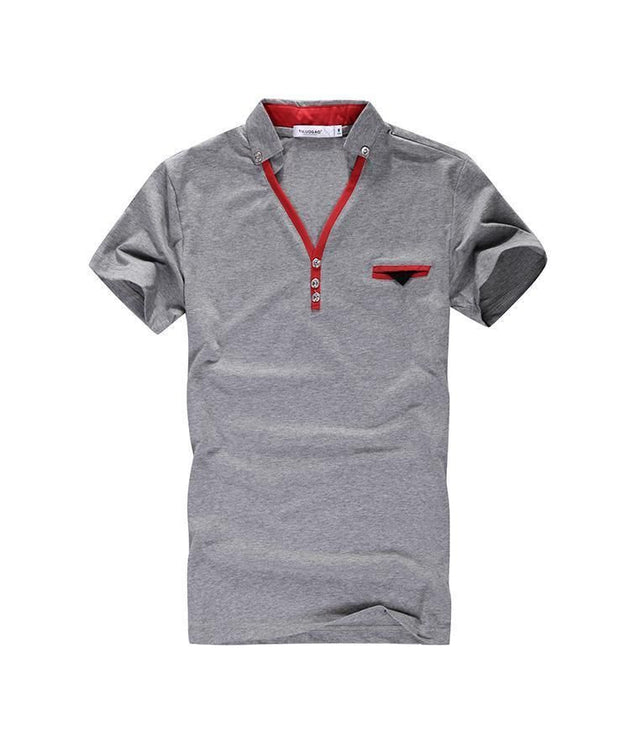 Men's Turn Down Collar Polo With Pocket Decoration - TrendSettingFashions