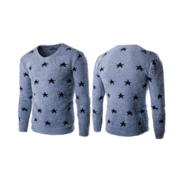 Men's Holiday Star Sweater - TrendSettingFashions