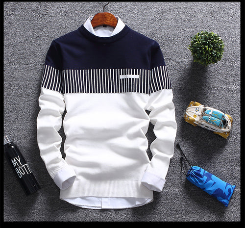 Men's Fashion Print Cashmere Pullover