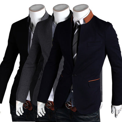 Men's Casual Suit Jacket, Colored Collar