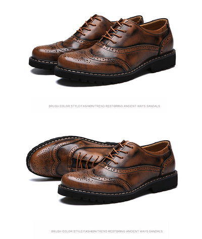 Men's Brogue Dress Shoes Up To Size 11 - TrendSettingFashions