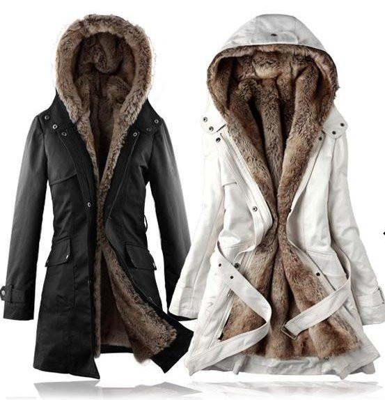 Women's Long Faux Fur Lined Thermal Parka - TrendSettingFashions