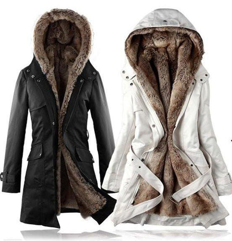 Long Faux Fur Lined Thermal Parka