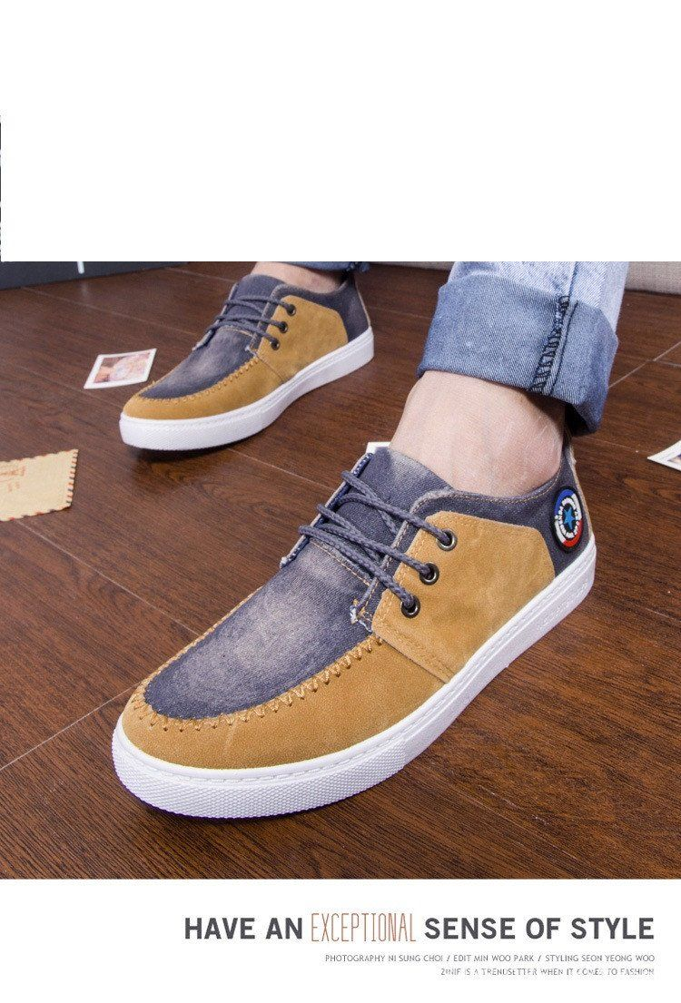 Men's Canvas Lace Up's - TrendSettingFashions   - 1