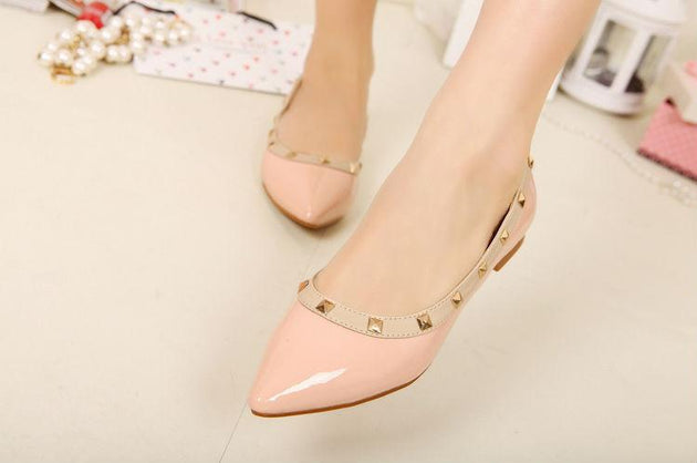 Women's Sexy Party Flats With Rivets - TrendSettingFashions