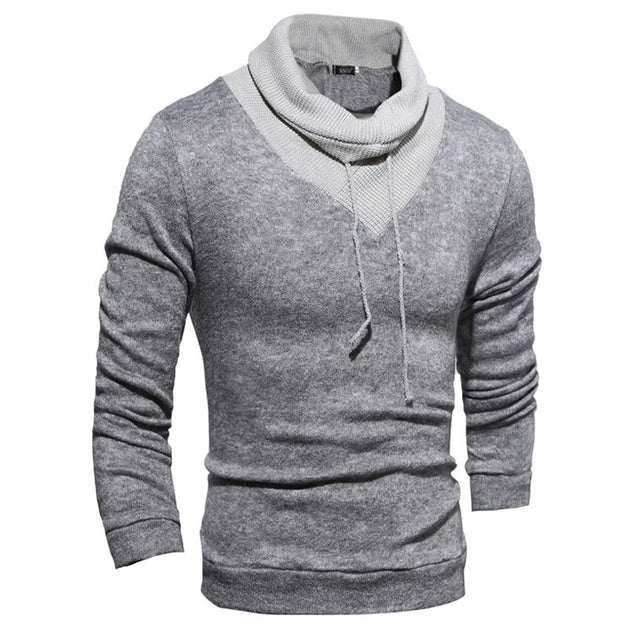 Men's High Collar Wrap Sweater