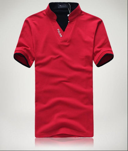 Men's Short Sleeve Solid Polo Shirt