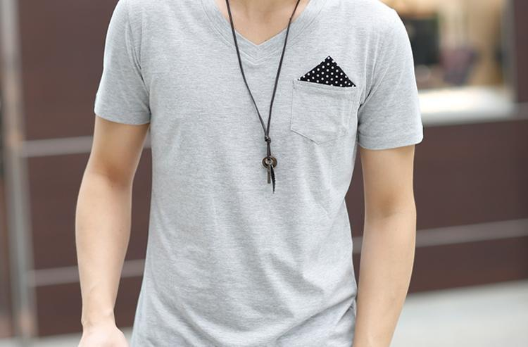 Men's Casual Pocket Decoration T-Shirt - TrendSettingFashions   - 1