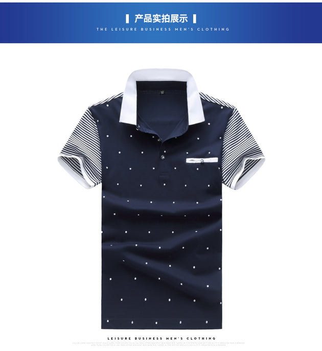Men's Fashion Doted Polo - TrendSettingFashions