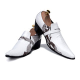 Men's White Pointed Toe Shoe - TrendSettingFashions