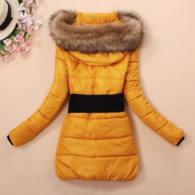 Women's Toasty Warm Feather Coat - TrendSettingFashions