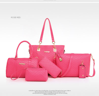 Women's 5 Bag Set With 5 Color Options