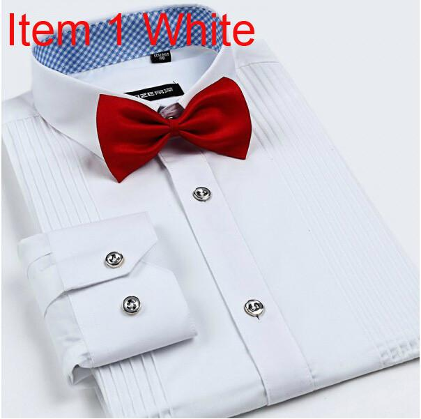 Men's London Busines Shirt With Solid Tie - TrendSettingFashions   - 5