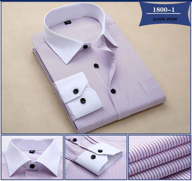 Men's Fashion Striped Dress Shirt