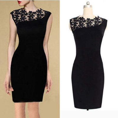 Women's Little Black BodyCon Dress - TrendSettingFashions