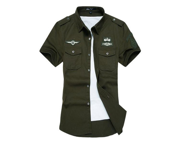 Men's Military Style T-Shirt - TrendSettingFashions