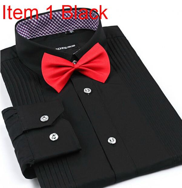 Men's London Busines Shirt With Solid Tie - TrendSettingFashions   - 7
