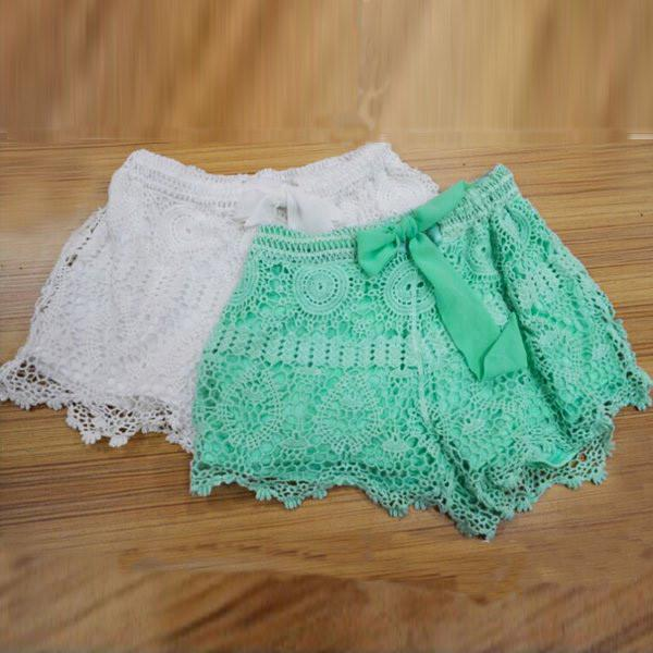 Lace Crochet Shorts - TrendSettingFashions   - 4