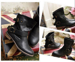Vintage Leather Ankle Boots - TrendSettingFashions   - 2