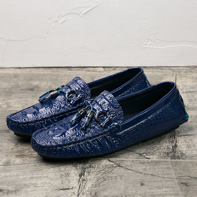 Crocodile Style Casual Oxfords In 4 Colors - TrendSettingFashions