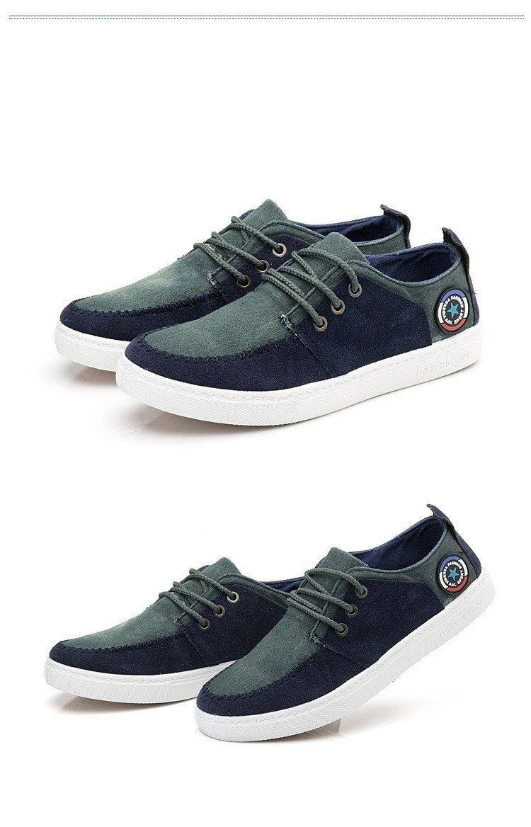 Men's Canvas Lace Up's - TrendSettingFashions   - 4