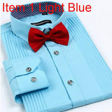 Men's London Busines Shirt With Solid Tie - TrendSettingFashions   - 9