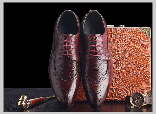 Men's Brogue/Oxford Dress Shoe - TrendSettingFashions