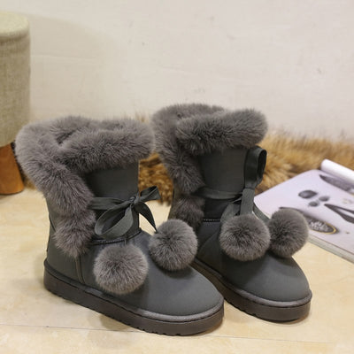 Women's Medium Leg Lacing Snow Boot