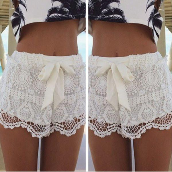 Lace Crochet Shorts - TrendSettingFashions   - 2