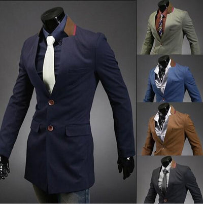 Men's Fashion Long Overcoat - TrendSettingFashions