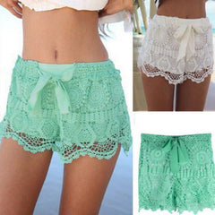 Lace Crochet Shorts - TrendSettingFashions   - 3